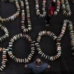 Najdłuższe książkowe domino – padł nowy rekord Guinnessa