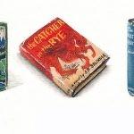 """Miniaturowe okładki książek """"dla mrówek"""" autorstwa Lorraine Loots"""