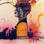 """Ilustracje Ralpha Steadmana do powieści """"451 stopni Fahrenheita"""" Raya Bradbury?ego"""