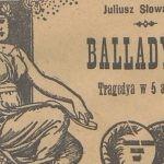 """Lekturą Narodowego Czytania w 2020 roku będzie """"Balladyna"""" Juliusza Słowackiego"""