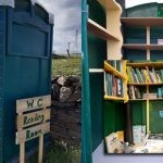 Mieszkańcy szkockiej miejscowości przerobili przenośną kabinę WC w społeczną bibliotekę