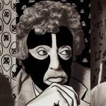 Doodle na fotografiach znanych pisarzy