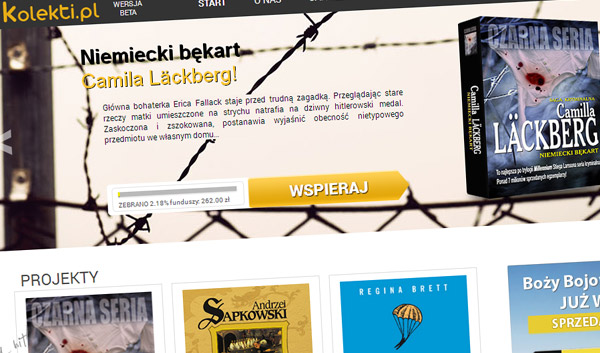 Kolekti - pierwszy polski serwis crowdfundingowy z audiobookami