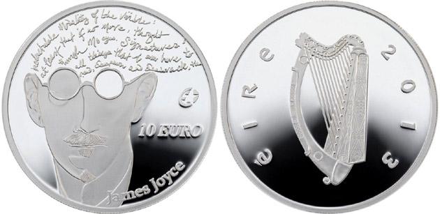 moneta Jamesa Joyce'a z błędem