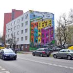 Książkowy mural na Warszawskim Powiślu