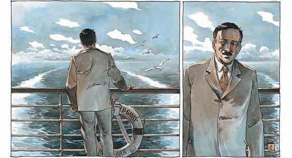 Ostatnie dni Stefana Zweiga - rysunek
