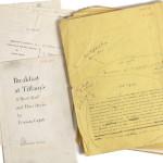 """Tak wygląda żółty rękopis """"Śniadania u Tiffany'ego"""" z ostatnimi poprawkami Trumana Capote'a"""