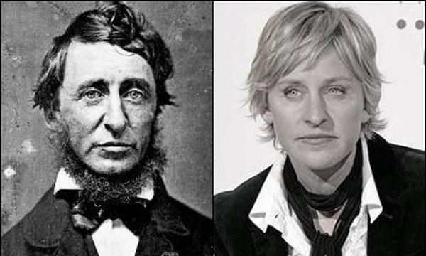 Henry David Thoreau jak Ellen DeGeneres