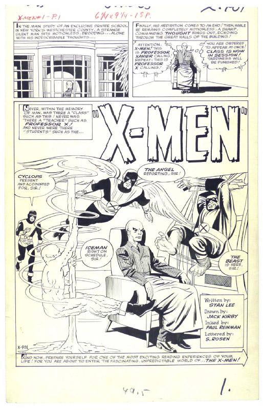 X-men # 1 - strona 1
