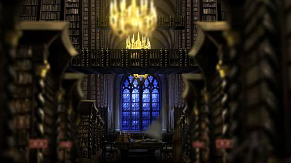 Biblioteka w Hogwarcie