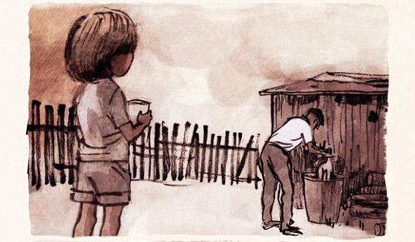 Ogród - rysunek
