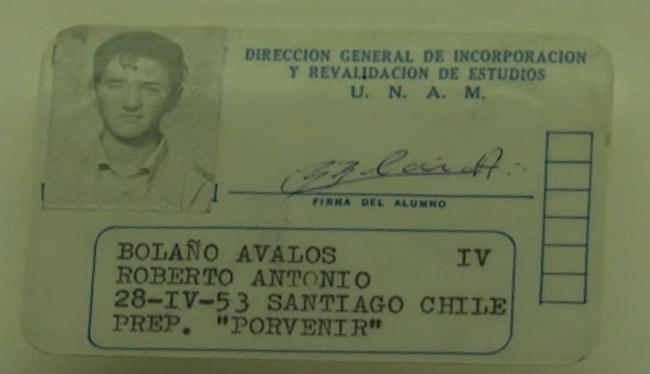 Legitymacja studencka Roberto Bola?o.