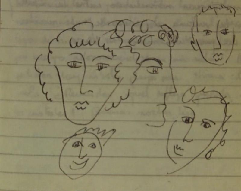 Rysunki, jakimi Roberto Bola?o przyozdabiał swoje zeszyty z notatkami i rękopisami.
