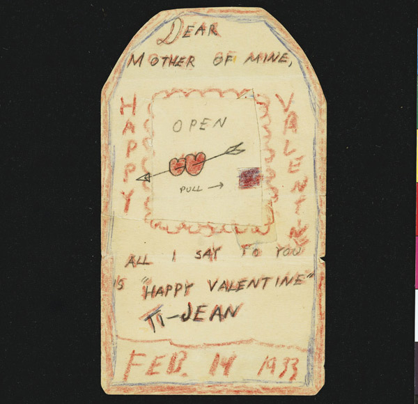 kartka walentynkowa Jacka Kerouaca
