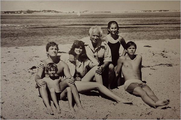Norman Mailer z rodziną