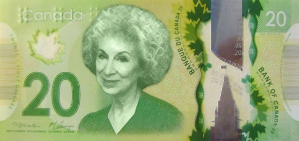 banknot z Margaret Atwood