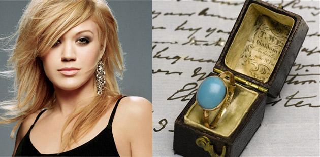 Kelly Clarkson i pierścionek Jane Austen