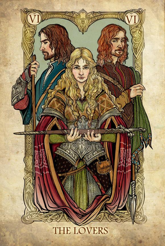 Aragorn, Éowina i Faramir jako Kochankowie