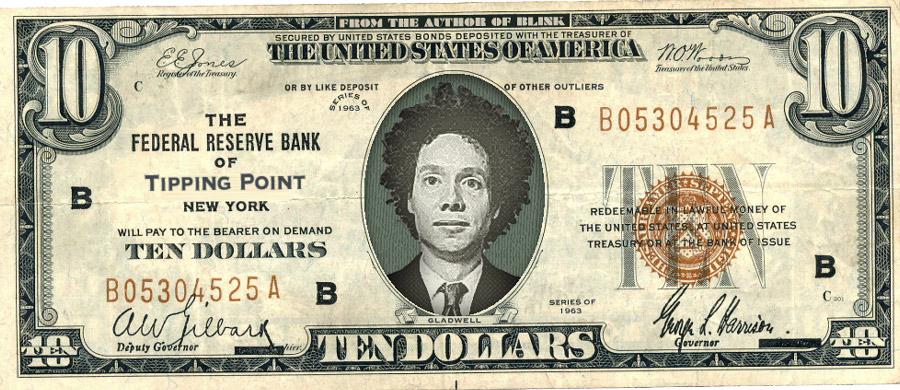 banknot z Malcolmem Gladwellem