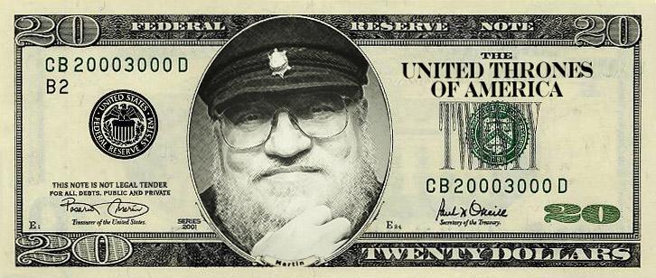 banknot z Georgem R. R. Martinem