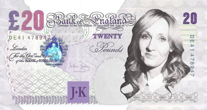 banknot z J. K. Rowling