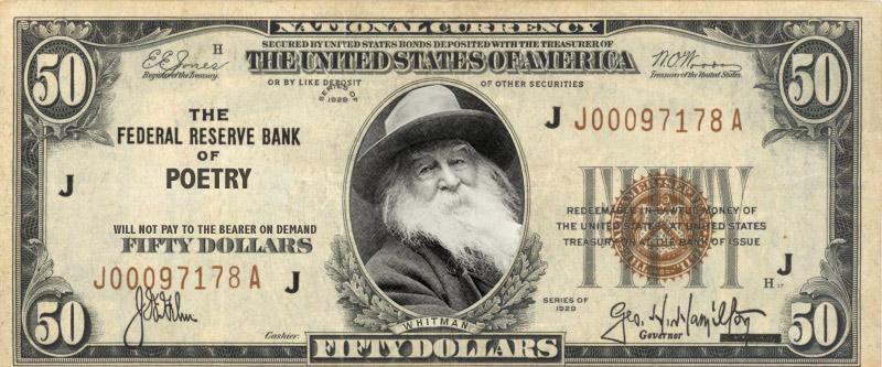 banknot z Waltem Whitmanem