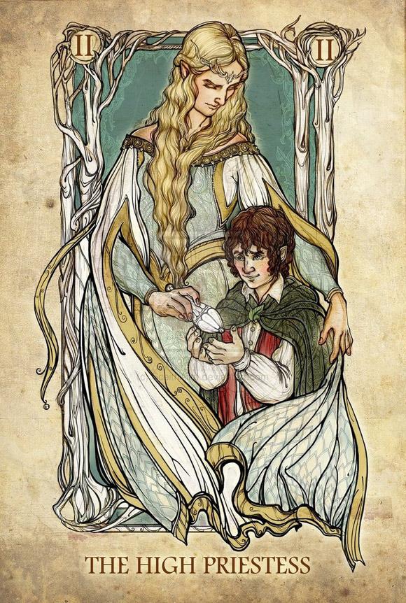 Galadriela (i Frodo) jako Papieżyca (Kapłanka)