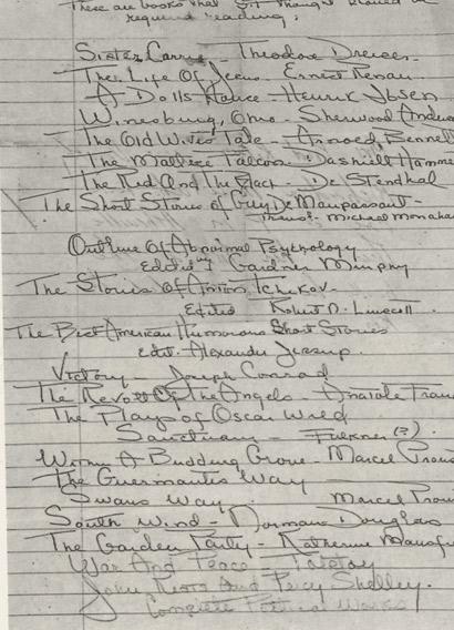 lista lektur F. Scotta Fitzgeralda