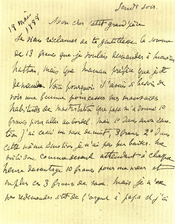 Marcel Proust - list z burdelu