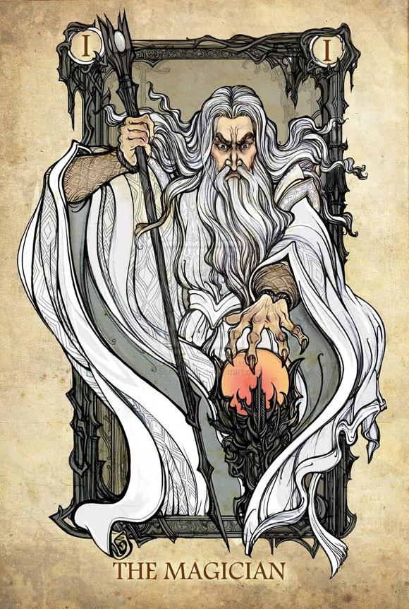 Saruman jako Kuglarz (Mag)