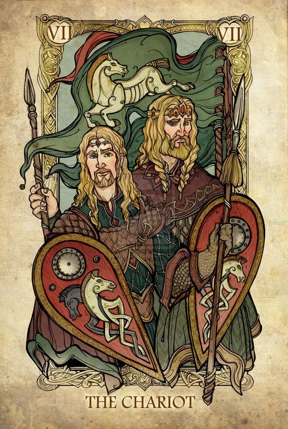 Król Théoden i Éomer jako Rydwan