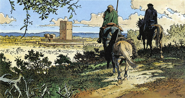 Wieże Bois-Maury - rysunek