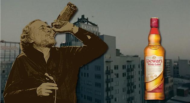 Charles Bukowski reklamuje szkocką
