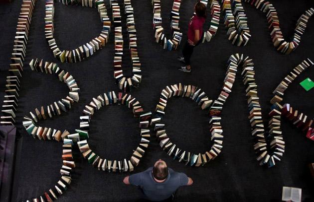 książkowe domino rekord - 1