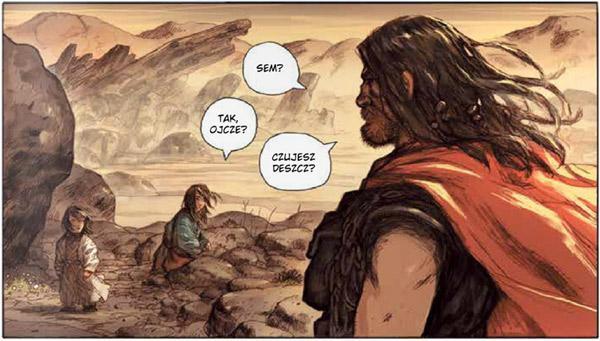 Noe tom 1: Za niegodziwość ludzi - rysunek