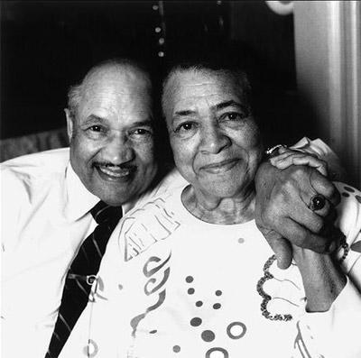 Eugene Allen z żoną.