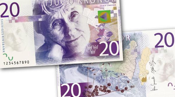 Banknot Astrid Lindgren