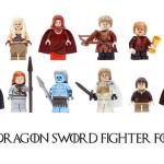 """George R. R. Martin oraz bohaterowie """"Pieśni Lodu i Ognia"""" jako figurki Lego"""