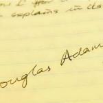 W szkolnej szafce odnaleziono młodzieńczy wiersz Douglasa Adamsa