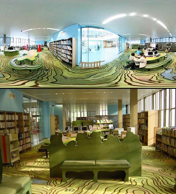 Dział dziecięcy w Bibliotece Centralnej Swiss Cottage w Londynie (Wielka Brytania).