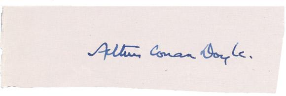 Conan-Doyle-podpis