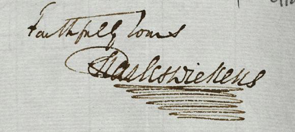 Dickens-podpis