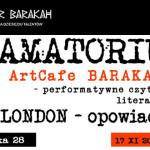 Aktorzy krakowskiego Teatru Barakah przeczytają opowiadania Jacka Londona