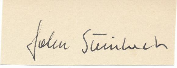 Steinbeck-podpis