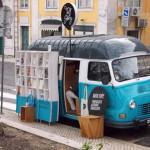 Książkowy van w Lizbonie
