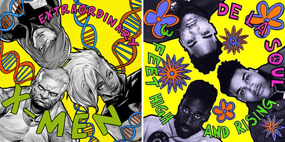 """Extraordinary X-Men #1 (De La Soul """"3 Feet High and Rising"""")"""