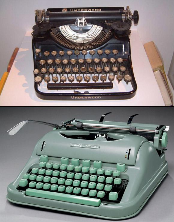 Jack Kerouac - Underwood (przenośna) i Hermes 3000 (nr seryjny 3337316, ostatnia maszyna pisarza).