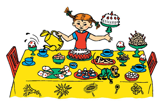 Pippi Pończoszanka (ilustracja Ingrid Vang Nyman).