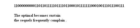 Przykładowy ciąg liczbowy i przyporządkowane mu hasło-wiersz.