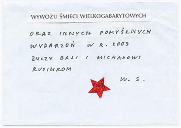 Życzenia noworoczna dla Michała Rusinka i jego żony od Wisławy Szymborskiej.